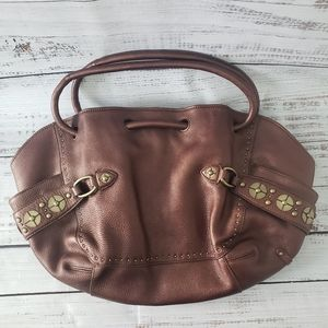Cole Haan Brown Hobo Bag with Magnetic Closure